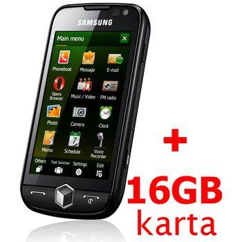 Samsung i8000 Omnia II Rose Black + 16GB karta