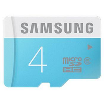 Samsung paměťová karta MB-MS04DA 4GB Class 6 microSDHC + SDHC adaptér