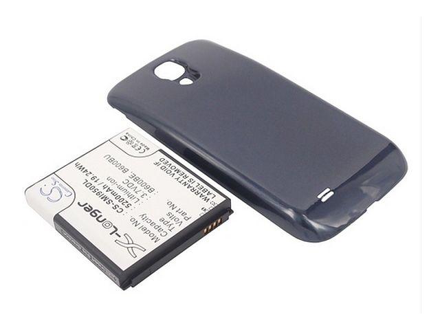 obsah balení Baterie pro Samsung Galaxy S4 (i9505), rozšířená včetně černého krytu, 5200mAh, Li-ion + univerzální nabíječka baterií