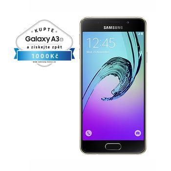 Samsung Galaxy A3 2016 (SM-A310F), 16GB, zlatá, akce cashback 1 000 Kč
