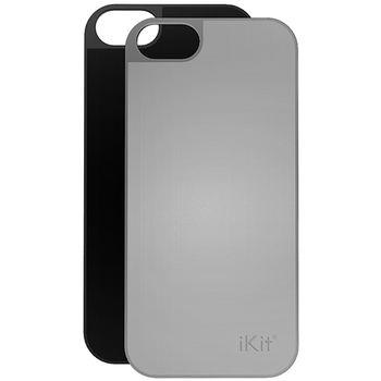iKit Nucharge 2ks krytu k záložní baterii pro iPhone 5/5S, kožený černý a stříbrný