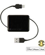 Scosche boltBOX I2BOX navíjecí USB kabel s Lightning konektorem, černá