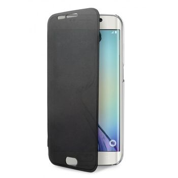 Puro flipové pouzdro Booklet Quick View pro Samsung Galaxy S6 edge, transparentní