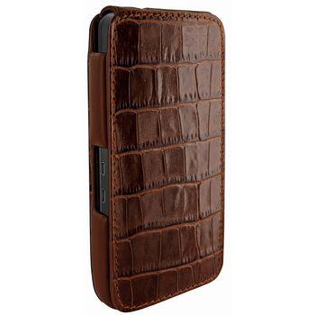 Piel Frama pouzdro pro BlackBerry Z10 iMagnum, Crocodile Brown