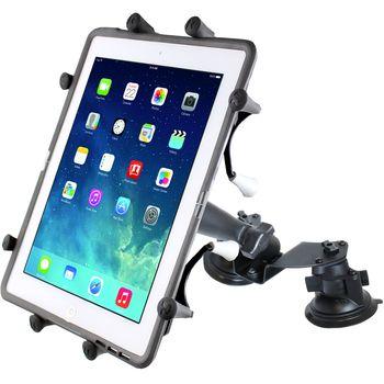 """RAM Mounts Univerzální držák na tablet 9"""" až 10,1"""" do auta nebo letadla s 2x extra silnou přísavkou na sklo, X-Grip, sestava RAM-B-189B-UN9U"""