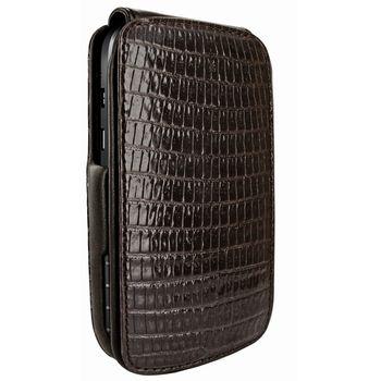 Piel Frama pouzdro pro BlackBerryQ10 iMagnum, Lizard Brown