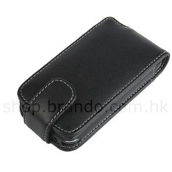Pouzdro kožené Brando Flip Top - iPhone 3G (černá)