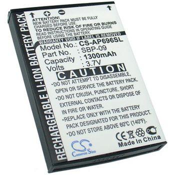 Baterie (ekv. SBP-09) pro Asus Mypal A626, A686, A696, Li-ion 3,7V 1300mAh
