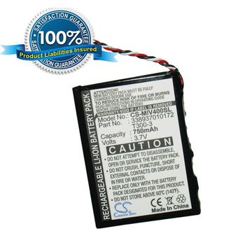 Baterie (ekv. T300-3) pro Mio Moov M400c, M400u, Li-ion 3,7V 750mAh
