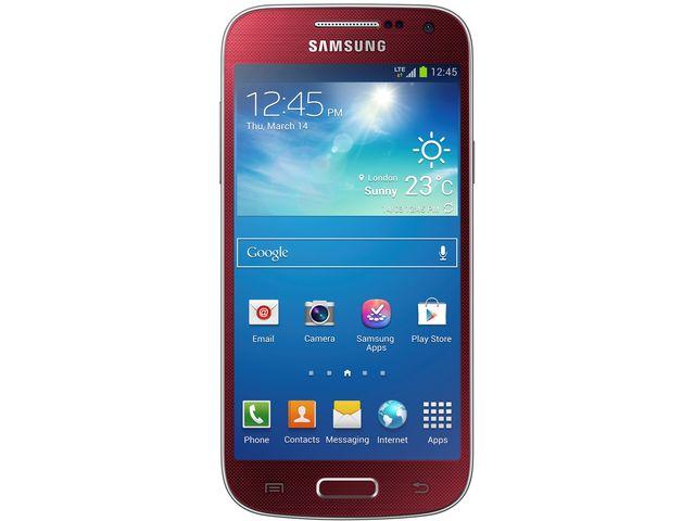 obsah balení Samsung GALAXY S4 mini i9195, červená + červený bezdrátový stereo reproduktor