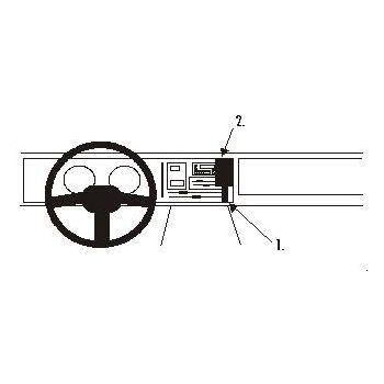 Brodit ProClip montážní konzole pro Renault 21 87-93, na střed