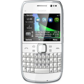 Nokia E6-00 White + Nabíjecí sada na kolo Nokia