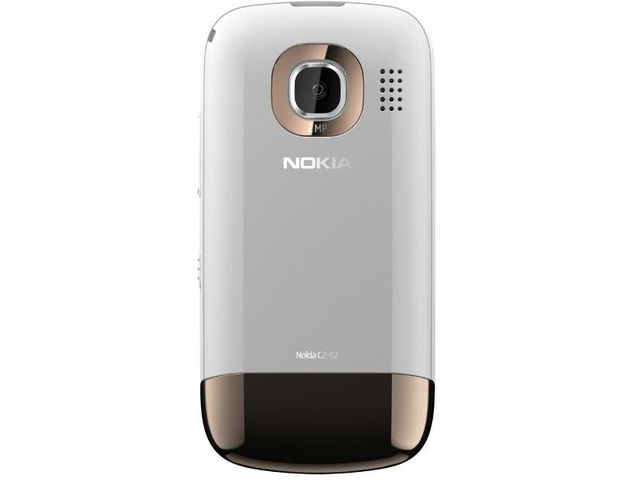 obsah balení Nokia C2-02 Golden White + Nabíjecí sada na kolo Nokia