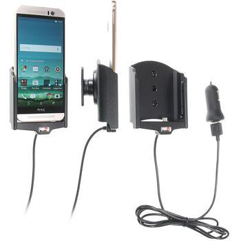 Brodit držák do auta na HTC One M9 bez pouzdra, s nabíjením z cig. zapalovače/USB