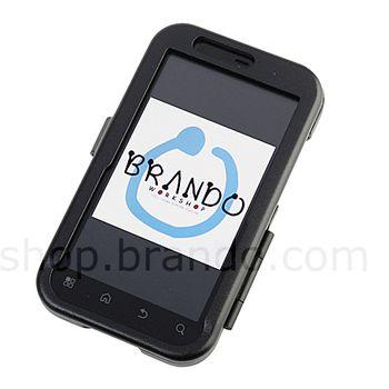 Pouzdro hliníkové Brando - Motorola Defy+ MB526 / Defy MB525 (černá)