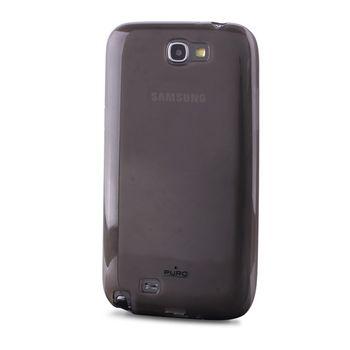 PURO silikonový obal pro Samsung Note II - černá