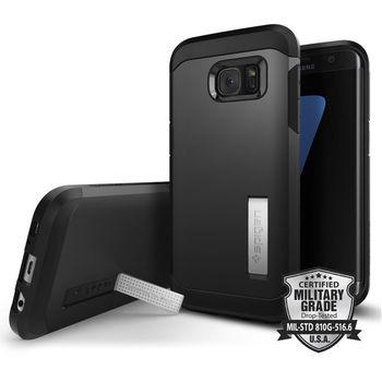 Spigen pouzdro Tough Armor pro Galaxy S7 edge, černé