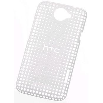 HTC pouzdro děrované Hard Shell HC-C704 pro HTC One X, bílé
