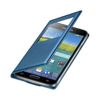 Samsung flipové pouzdro S-view EF-CG900BE pro Samsung Galaxy S5 (SM-G900), modré