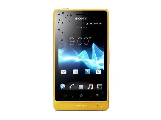 obsah balení Sony Xperia Go (ST27i) - žlutá + sportovní pouzdro na ruku + Sony MW1 Smart Wireless Headset pro