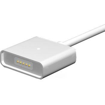 WSKEN MicroUSB magnetický nabíjecí/datový kabel, samotný bez magnetické koncovky 1ks, stříbrný