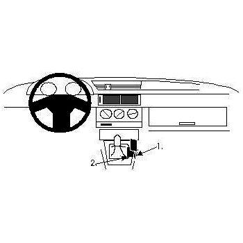 Brodit ProClip montážní konzole pro Alfa Romeo 155 92-97, na středový tunel