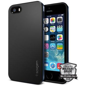 Spigen pouzdro Neo Hybrid Crystal pro iPhone SE/5s/5, kovově šedá