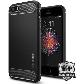Spigen pouzdro Rugged Armor pro iPhone SE/5s/5, černá