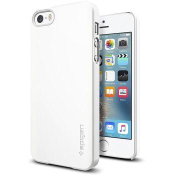 Spigen pouzdro Thin Fit pro iPhone SE/5s/5, bílá