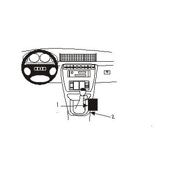 Brodit ProClip montážní konzole pro Audi A4 Avant 95-01, na středový tunel