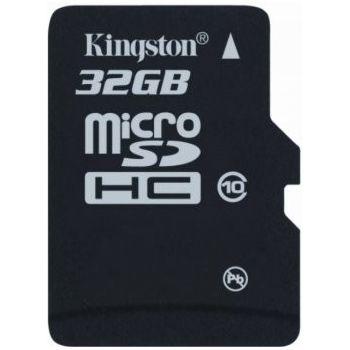 Kingston microSDHC 32GB Class 10 paměťová karta + SDHC adaptér - rozbaleno, plná záruka