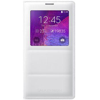 Samsung flipové pouzdro S-View s bezdrátovým nabíjením EP-VN910IW pro Galaxy Note 4 (N910), bílý