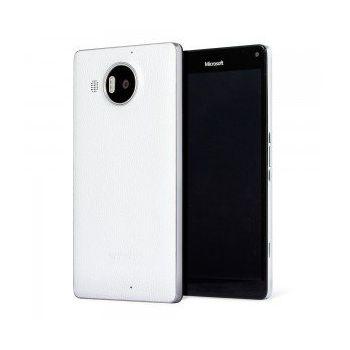 Mozo kožený kryt pro bezdrátové nabíjení pro Lumia 950 XL, bílý