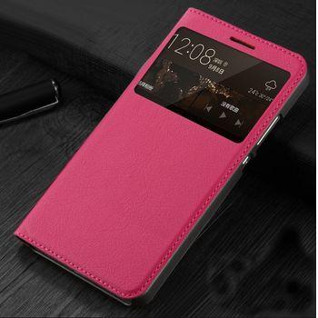 Huawei flipové pouzdro S-View pro Mate S, růžové