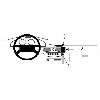 Brodit ProClip montážní konzole pro Mazda 626 92-97, na střed