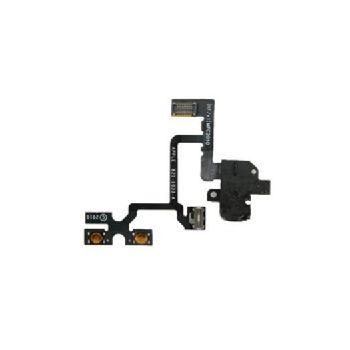 Náhradní díl flex kabel s jackem 3,5mm pro Apple iPhone 4, černý