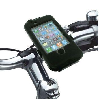 Držák BikeConsole pro iPhone 4/4S/3G/3GS na kolo nebo motorku na řídítka pro uchycení telefonu + stylus SJ3 černý