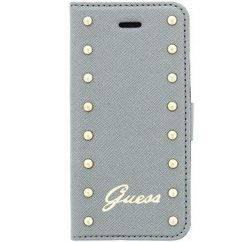 Guess flipové pouzdro Studded Folio pro iPhone 6 4.7, stříbrné