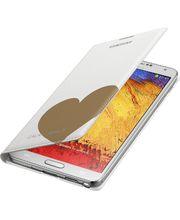 Samsung flipové pouzdro s kapsou Moschino EF-EN900BD pro Galaxy Note 3, bílo zlaté