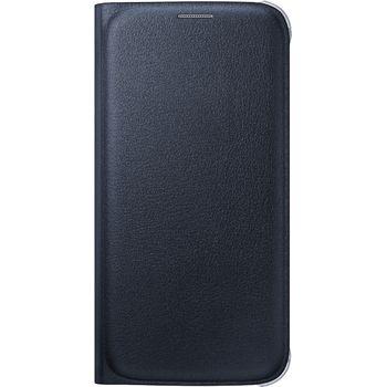 Samsung flipové pouzdro s kapsou EF-WG920PB pro Galaxy S6, imitace kůže, černá