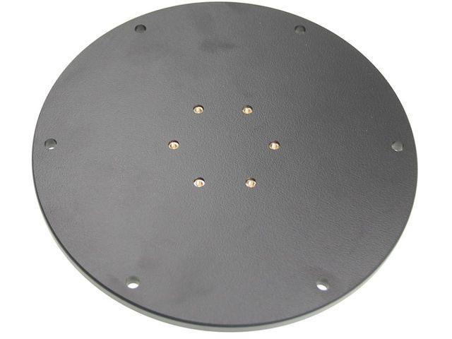 obsah balení Brodit montážní podstavec 124mm, včetně podstavce s průměrem 100mm, hliník/plast, (215563)