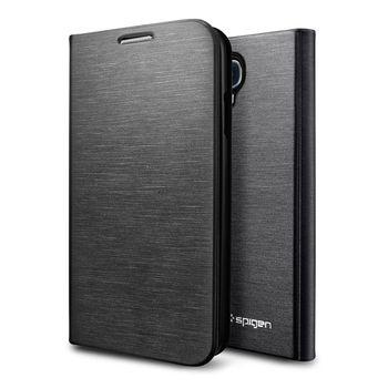 Spigen flipové pouzdro Slim Wallet pro Galaxy S4, černá