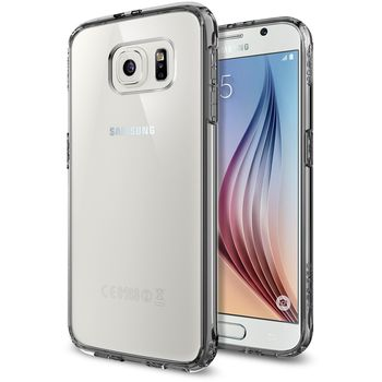 Spigen tenký kryt Ultra Hybrid pro Samsung Galaxy S6, šedá transparentní