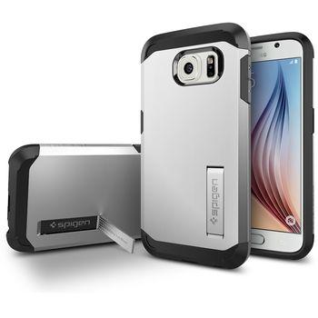 Spigen pouzdro Tough Armor pro Samsung Galaxy S6, stříbrná