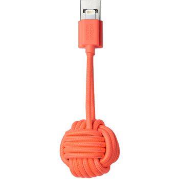 Native Union Key klíčenka s Lightning kabelem, 16.5cm, korálová