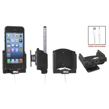 Brodit držák do auta na Apple iPhone 5/5S/SE bez pouzdra, s průchodkou pro Lightning kabel, samet