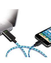 Dexim Visible Green Shiny USB kabel microUSB, černý