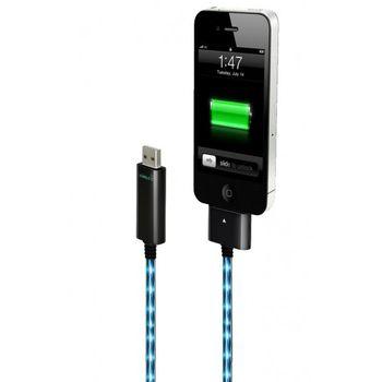 Dexim Visible Green Shiny USB kabel pro Nový iPad/iPad2/iPhone 4S/4/3G/iPod