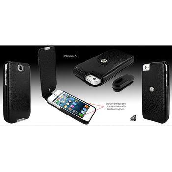 Piel Frama pouzdro pro iPhone 5 iForte karabu, Black