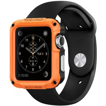 Spigen ochranný kryt pro Apple Watch 42mm Tough Armor, oranžový